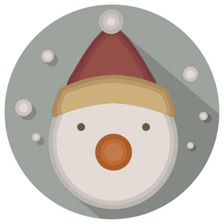 christmas icon: christmas vintage snowman icon