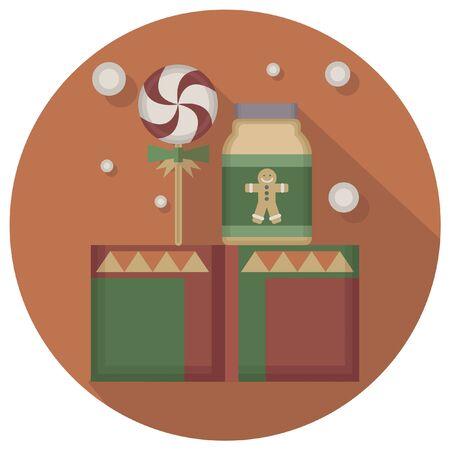 christmas icon: christmas vintage decoration icon Illustration