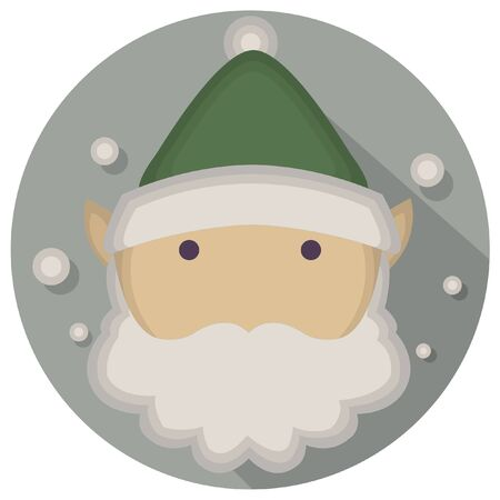 seasonal worker: christmas vintage elf icon