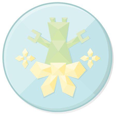 christmas icon: christmas jewel style robot  icon Illustration