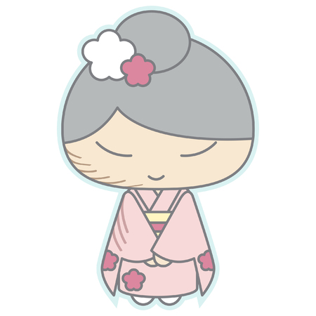 yukata: Japanese New Year Cute Sticker Icon