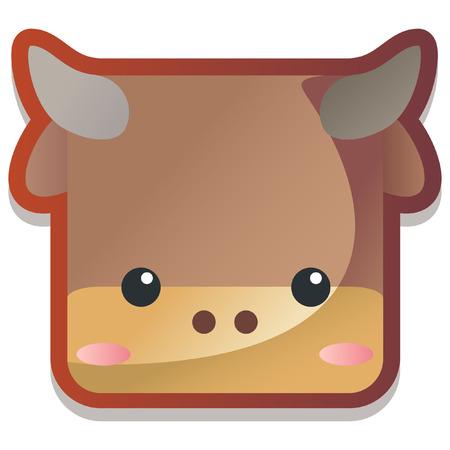 animal: Cute Animal Zodiac Bull icon