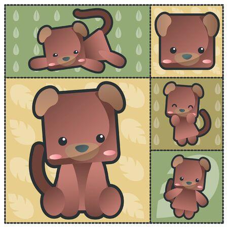 cute dog: Cute Animal Zodiac Dog Set
