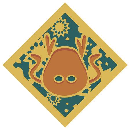 chinese astrology: Japanese zodiac Dragon  Pattern Icon