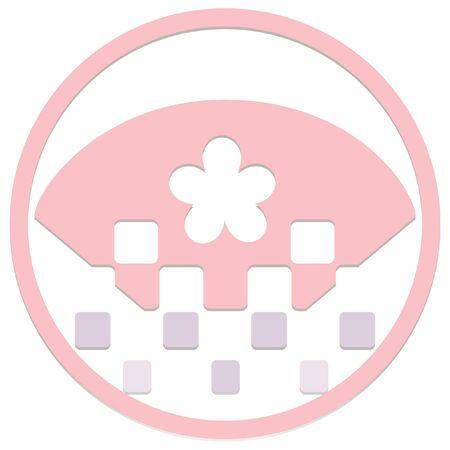 일본 새해 스탬프 스타일 아이콘