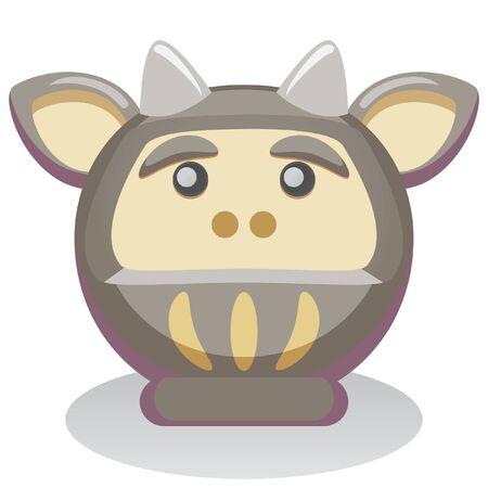 year of the ox: Daruma Theme  Japanese Zodiac  Ox Icon