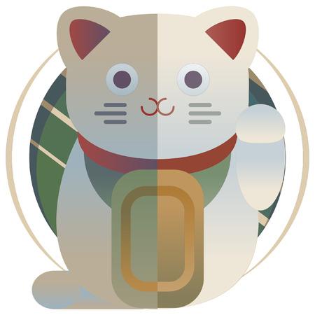 neko: Japanese Traditional New Year items Icon Illustration