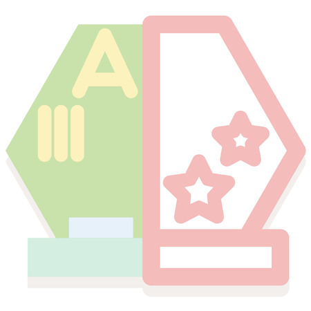 top class: abstract school icon