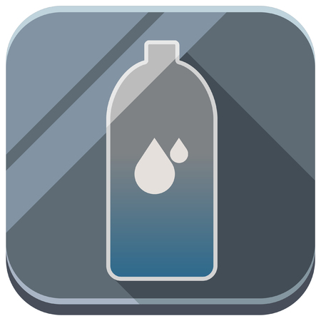 disaster: glossy disaster prevention icon Illustration