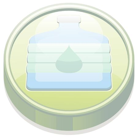 disaster prevention: glossy button disaster prevention icon Illustration