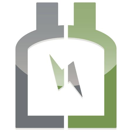 prevention: glossy abstract disaster prevention icon Illustration