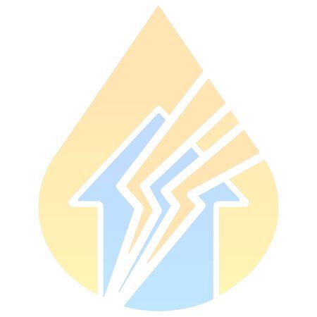 preparations: minimalist disaster thunder icon Illustration