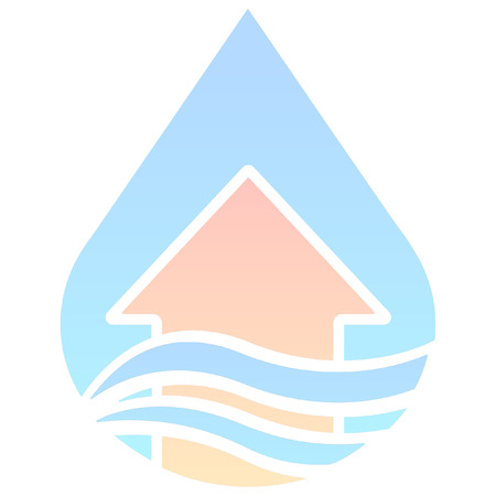 disaster: minimalist disaster flood icon Illustration