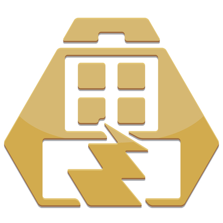 earthquakes: simple glossy safety icon