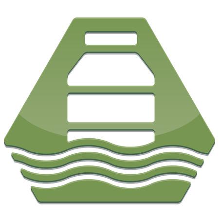 シンプルな光沢のある安全アイコン  イラスト・ベクター素材