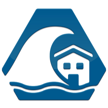 tidal wave: simple glossy safety icon