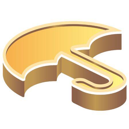 calamity: isometric disaster prevention symbol icon Illustration
