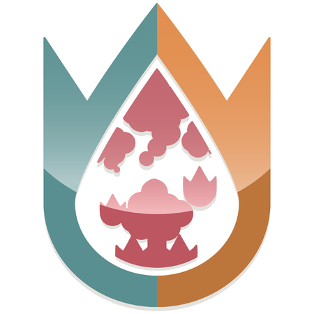 calamity: glossy abstract disaster calamity icon