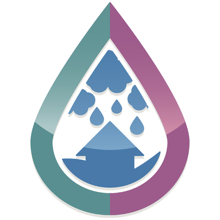 rainfall: glossy abstract disaster calamity icon