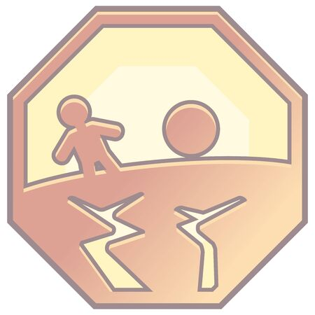 disaster prevention sign icon 向量圖像
