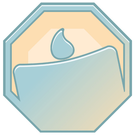 disaster: disaster prevention sign icon Illustration