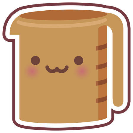 item: cute chibi kitchen item icon Illustration