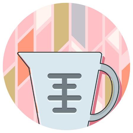 keuken object abstracte achtergrond icon Stock Illustratie