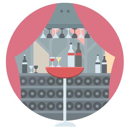 modern kitchen: modern kitchen icon Illustration