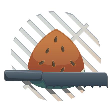 グリル食品のアイコンをホットします。