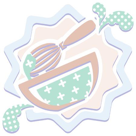 beating: patterned kitchen icon Illustration
