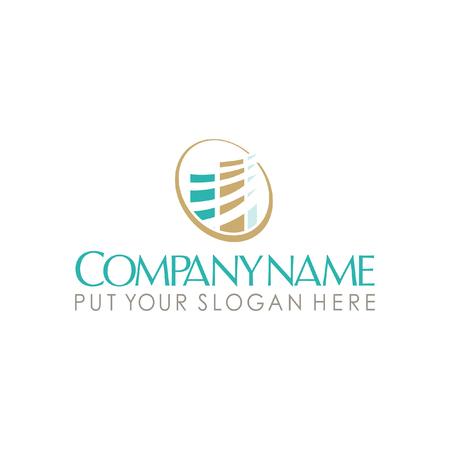 estate: real estate building logo