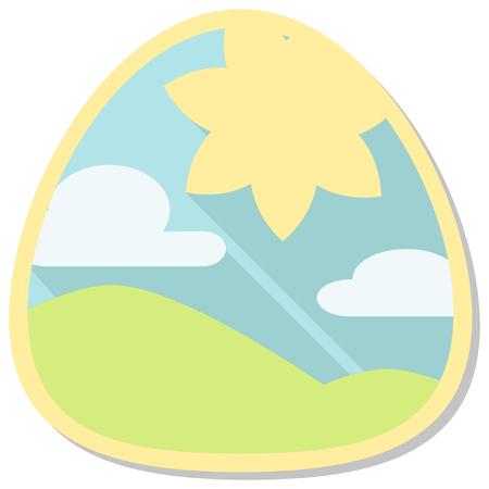 season: summer season icon Illustration