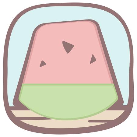 子供の夏の楽しみのアイコン  イラスト・ベクター素材
