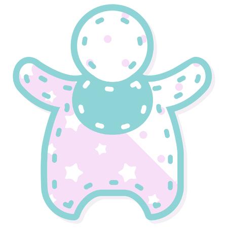 stitched: stitched baby icon Illustration
