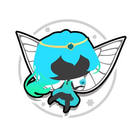 水の魔法の妖精アイコン 写真素材 - 62916025