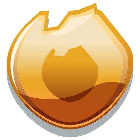 elemental glossy icon