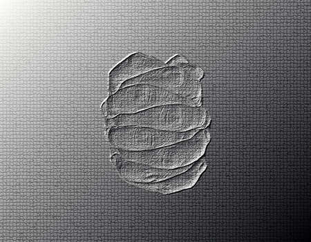 Clinched Hands (Top View) - Silver / Metalic hand gesture artwork. Stock Photo - 8309109