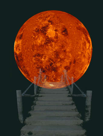 astrologist: Stairway to the sun - Steps running up to  into the Sun