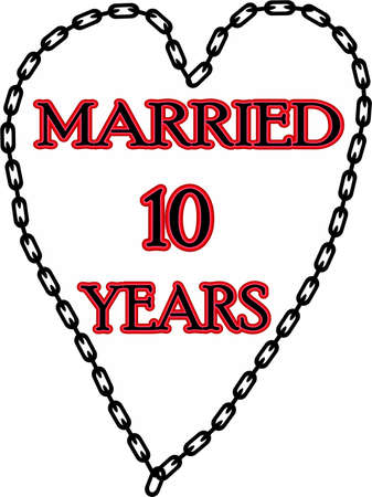 humoristic: Humoristic marriage  wedding anniversary � chained for 10 years