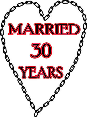humoristic: Humoristic marriage  wedding anniversary � chained for 30 years