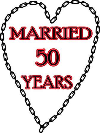 humoristic: Humoristic marriage  wedding anniversary � chained for 50 years Stock Photo