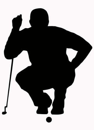 Sport Silhouette - Golfer Sizing put up Stock Vector - 8566219