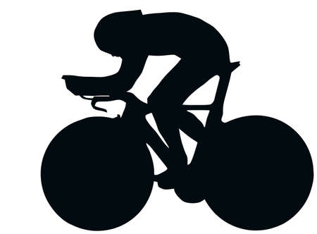 bicycle silhouette: Sport Silhouette - Bicycle Race isolated black image on white background