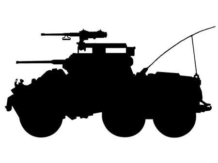 Segunda Guerra Mundial Serie - estadounidense de luz M8 blindados coche Ilustración de vector