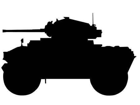 tanque de guerra: II Guerra Mundial Serie de-autom�vil blindado brit�nico Daimler