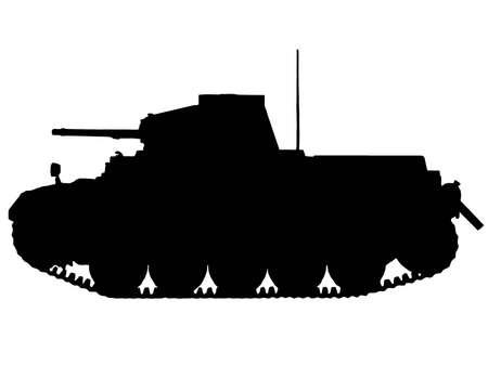 WW2 Series - German Panzer II Tank Stock Vector - 8763811