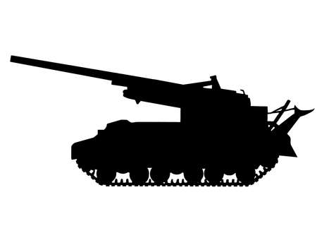 WW2 Series - American M40 155mm self propelled gun  Vector