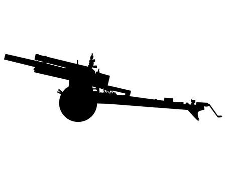 WW2 Series - American 105mm howitzer M2A1 field arttillery  Vector