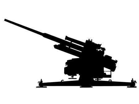 WW2 Series - German 10.5-cm Flak 38 anti aircraft gun  Vector