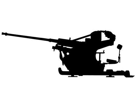 bombing: Segunda Guerra Mundial Serie-alem�n luz de Flak 30 cm-2 contra la ametralladora a�rea  Vectores